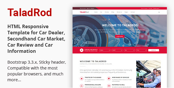 TaladRod - Car Dealer HTML Responsive Template