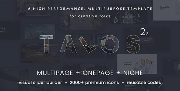 Talos - Creative Multipurpose HTML Template