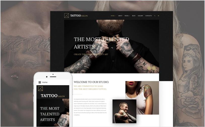 Tattoo Salon Joomla Template