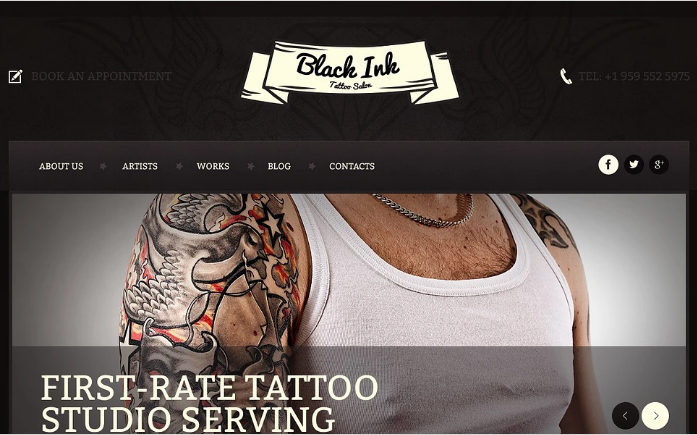 Best Tattoo HTML Website Templates