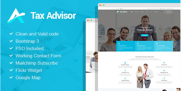 Tax Advisor - Financial Consulting/Attorney HTML Template