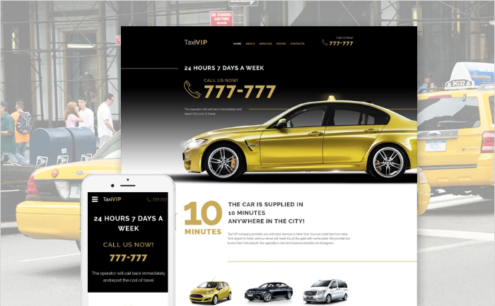 Taxi Vip Website Template