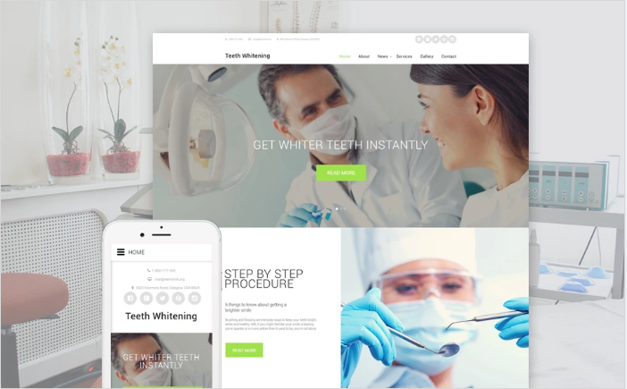 Teeth Whitening Website Template