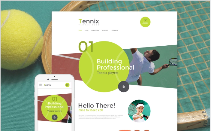 Tennix Website Template