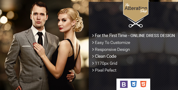 The Alteration Shop - HTML Template for Tailors