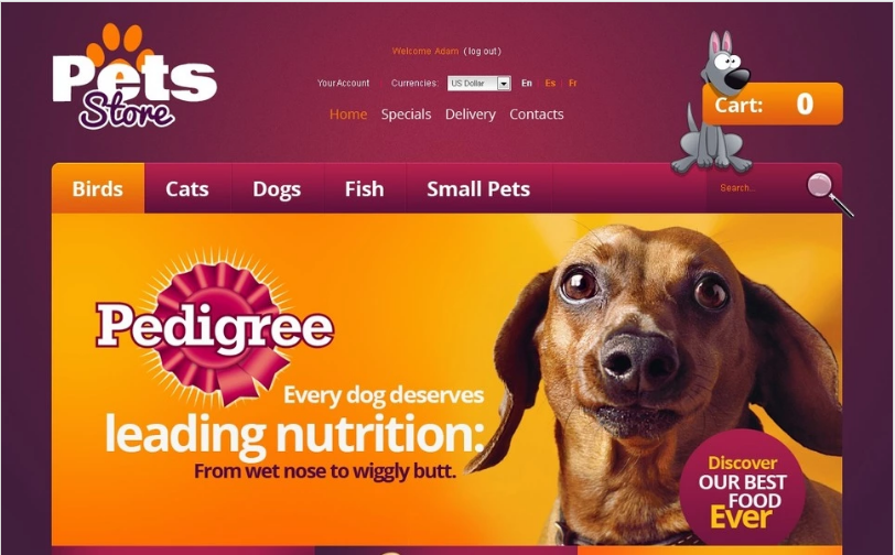 The Best for Your Pet PrestaShop Theme