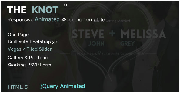The Knot - Wedding Animated HTML Template