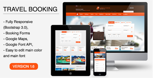 The Travel Booking - Responsive HTML Template