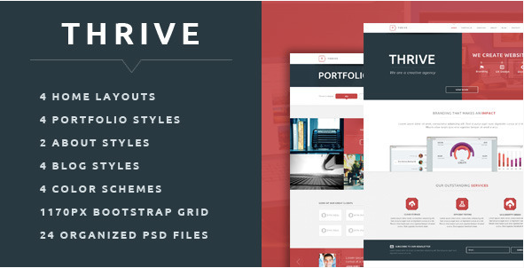 Thrive - Multipurpose Creative PSD Template
