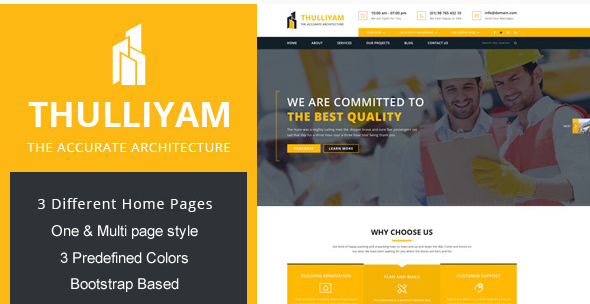 Thulliyam Architecture Builder Construction HTML Template
