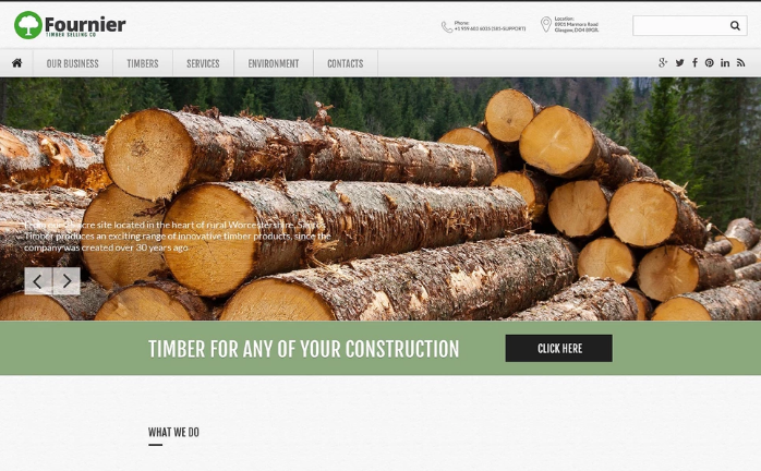 Timber Selling Company Website Template