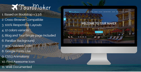 Tour Maker - Creative Tour & Travel Agency HTML Template