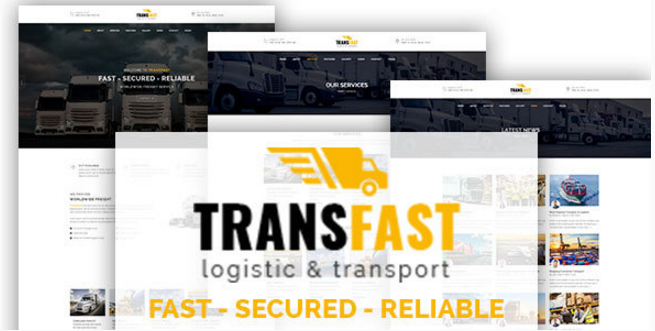 Transfast - Logistic and Transport - HTML Template