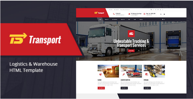 Transport - Transport, Logistic & Warehouse HTML Template
