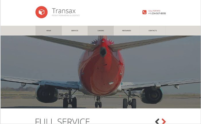 Transportation Services Website Template