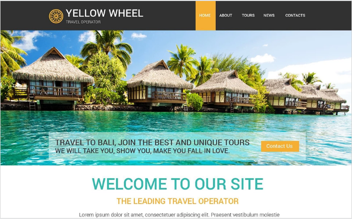 Travel Operator Website Template