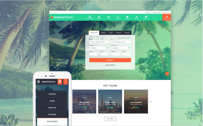 Travel Responsive Website Template