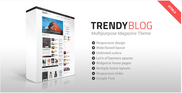 TrendyBlog - Multipurpose Magazine HTML Template