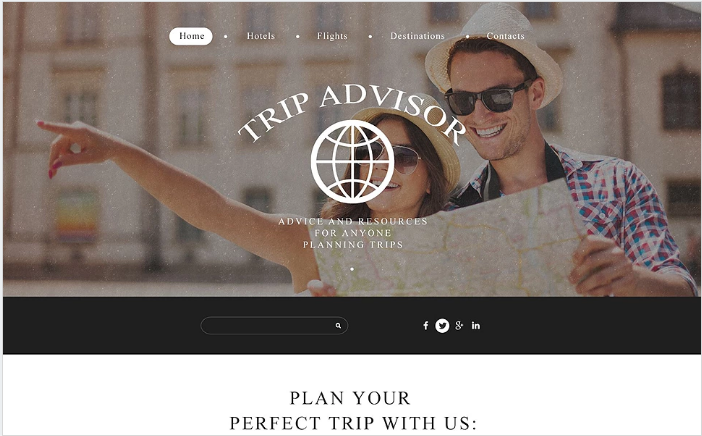 Trip Advisor Website Template