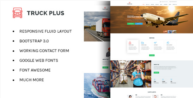 Truck Plus - Transportation and Logistics HTML Template