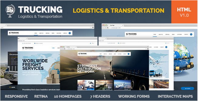 Trucking-Transportation & Logistics HTML Template