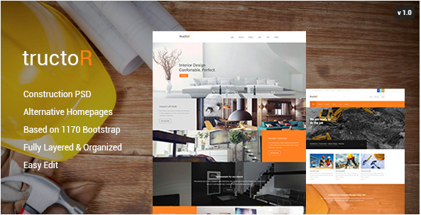 Tructor - Construction PSD Template