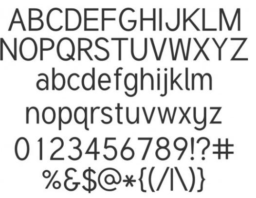 Tuffy Minimalist Font
