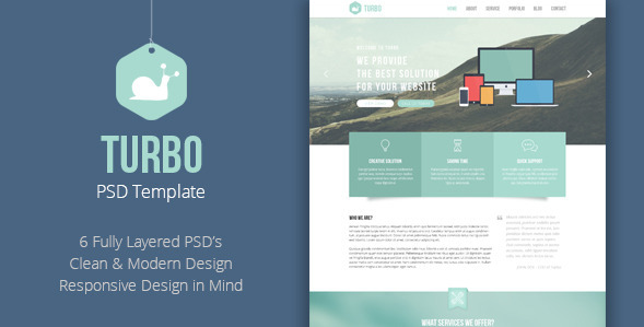 Turbo - Business PSD Template