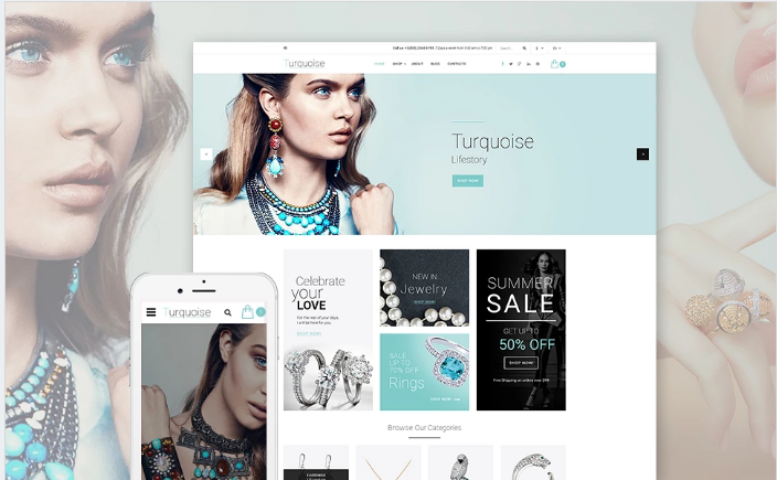 Turquoise Website Template