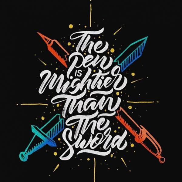 Typography-Pen-Background
