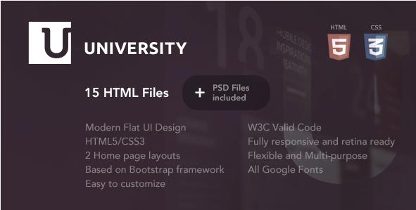 University – Education HTML Template