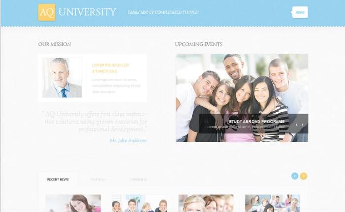 University PSD Template