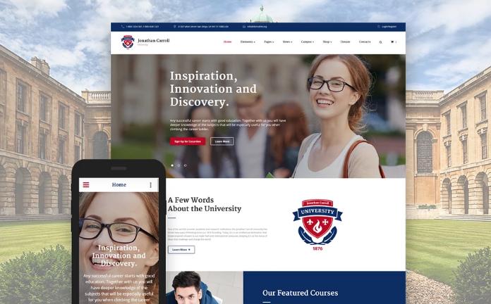 University Responsive Website Template