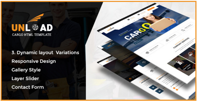 Unload - Cargo, Shipping, Warehouse & Transport HTML5 Responsive Website Template