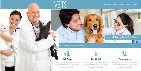 VETS - Veterinary Medical Health Clinic Template