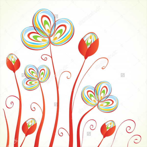 Vector-Abstract-Flower-Background