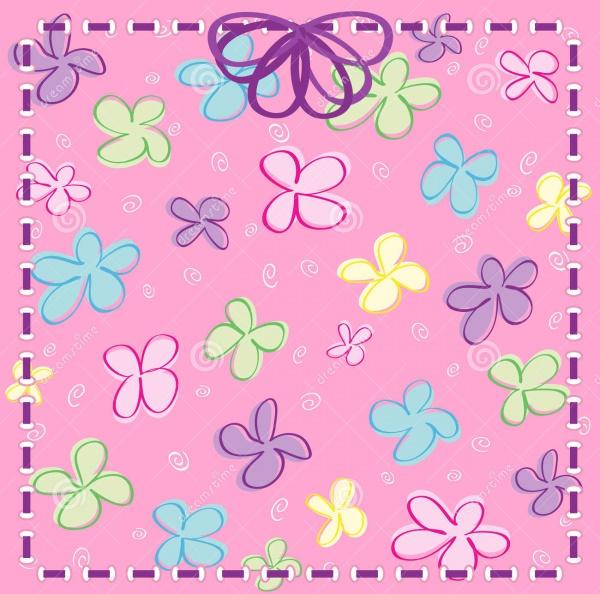 Vector-Girly-Flower-Background