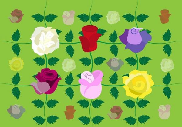 Vector-Rose-Flower-Background