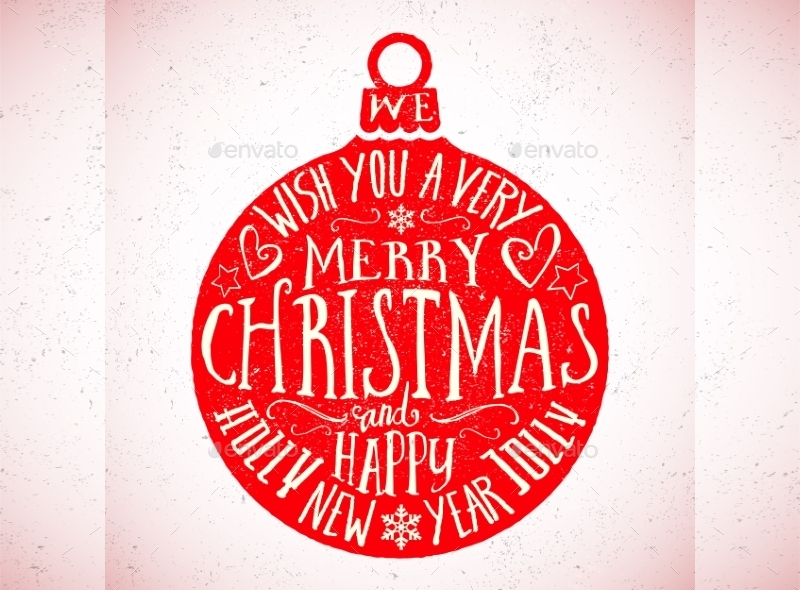 Vector-Typography-Christmas-Card