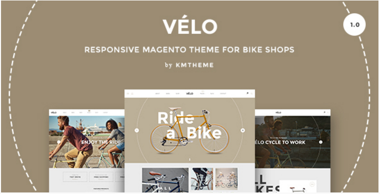 Velo – Responsive Magento Theme for Bike Shops