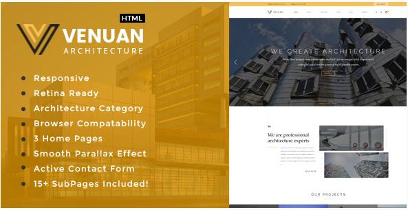 Venuan - Interior Design HTML Website Templates