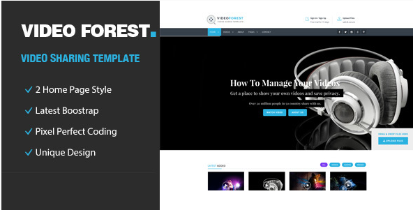 Video Forest - Video HTML Template