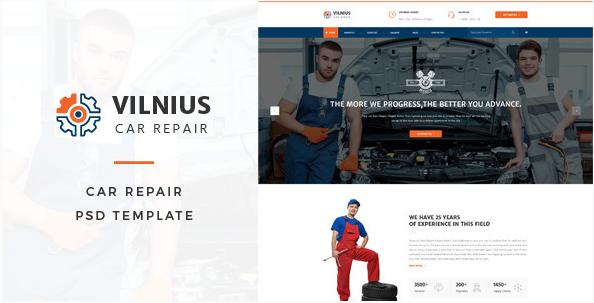 Vilnius Car Repair PSD Template