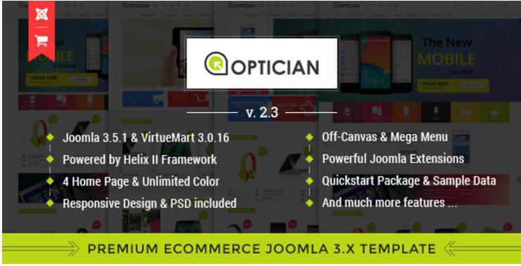 Vina Optician - Premium eCommerce Joomla Template