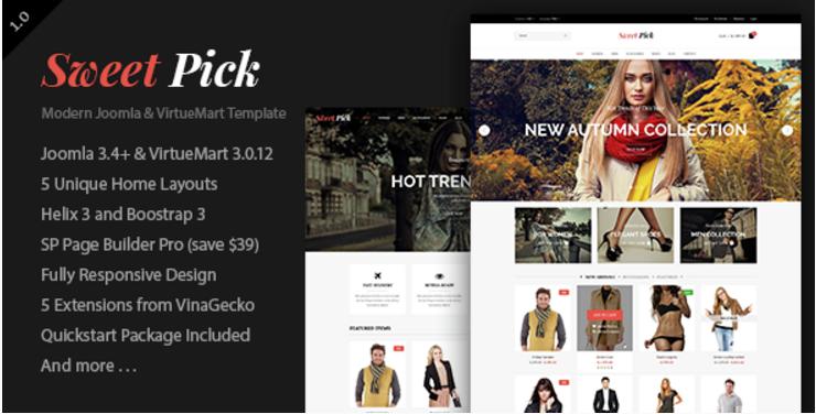 Vina SweetPick - Modern eCommerce VirtueMart Joomla Template