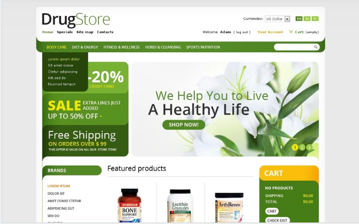 Best PrestaShop Healthcare Themes