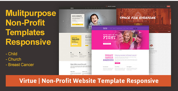 Virtue | Non-Profit Website Template Responsive