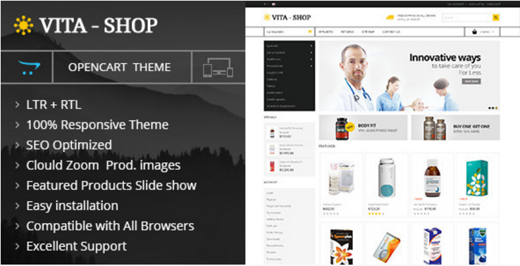 Vita Shop - Opencart Responsive Theme