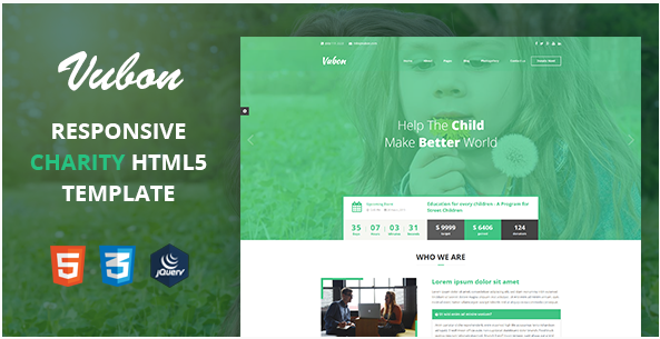 Vubon - Multipage Charity HTML Template