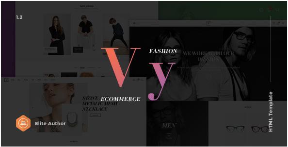 Vy – Fashion eCommerce HTML Template Multi Layout